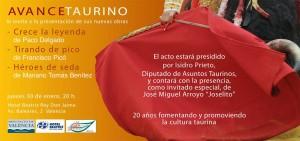 Presentación del Libro por Avance Taurino