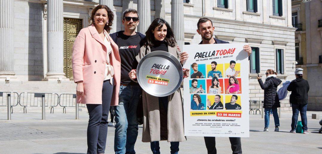 Sandra Gómez, Teniente Alcalde de Valencía, César Sabater, Director, Olga Alamán  actriz , Luis Piquer Productor